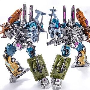 Image 2 - Dönüşüm Bruticus 5IN1 G1 PT05 PT 05 boy 27CM Anime aksiyon figürü Robot çocuk oyuncakları kombinasyon deformasyon koleksiyonu