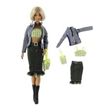 цена Handmade Fashion Outfit Set Clothes for Barbie BJD Doll Cute Red Dress Accessories Play House Dressing Up Costume Girl Toys онлайн в 2017 году