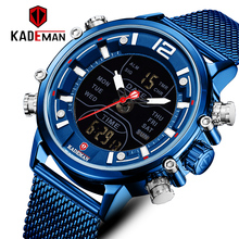 цена на Blue Watch Mens Top Luxury Brand Men Sports Watches Men's Quartz LED Digital Military Wrist Watches Male Clock Relogio Masculino