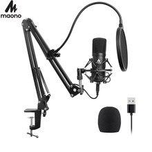 USB Mikrofon Kit 192KHZ/24BIT Plug & Play MAONO AU-A04 Professionelle Kondensator Mic Kit für PC Karaoke, podcast, YouTube, Gaming