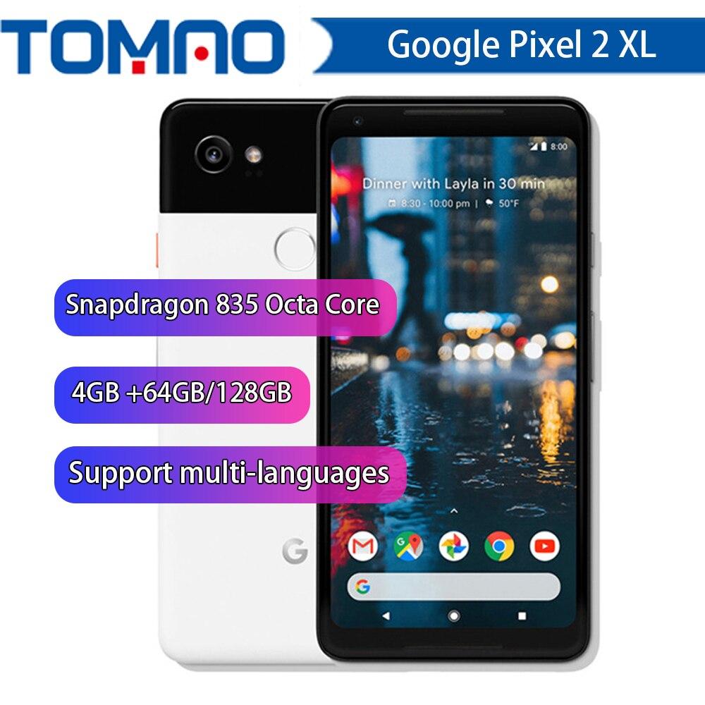 Google Pixel 2 XL 6.0'' Octa Core 4G LTE Original New Android 8. 0 2880*1440 4GB RAM 64GB 128GB ROM Fingerprint Mobile Phone