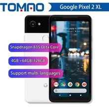 Google Pixel 2 XL 6.0 Octa çekirdek 4G LTE orijinal yeni Android 8. 0 2880*1440 4GB RAM 64GB 128GB ROM parmak izi cep telefonu