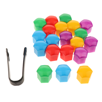 20Pcs 19mm Hexagonal Socket Car Wheel Hub Screw Cover for Universal Vehicles Plastic Lug Nut Covers Easy to install image