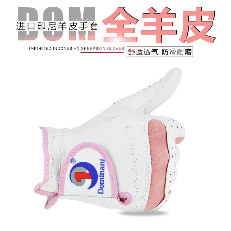 Hot Selling Women's Golf Gloves Women's Import Indonesia Small Sheepskin All Sheepskin Anti-slip Right Hand Hands