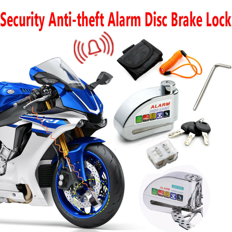 Anti-theft Alarm Disc Lock Motorcycle Scooter Bike Security Shock Sound 110dB