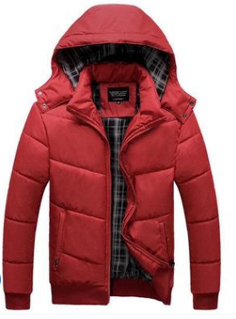 Winter Men Down Jacket Men's Detachable And Thickened Hooded Down Cotton Padded Jacket For Middle-Aged And Young People