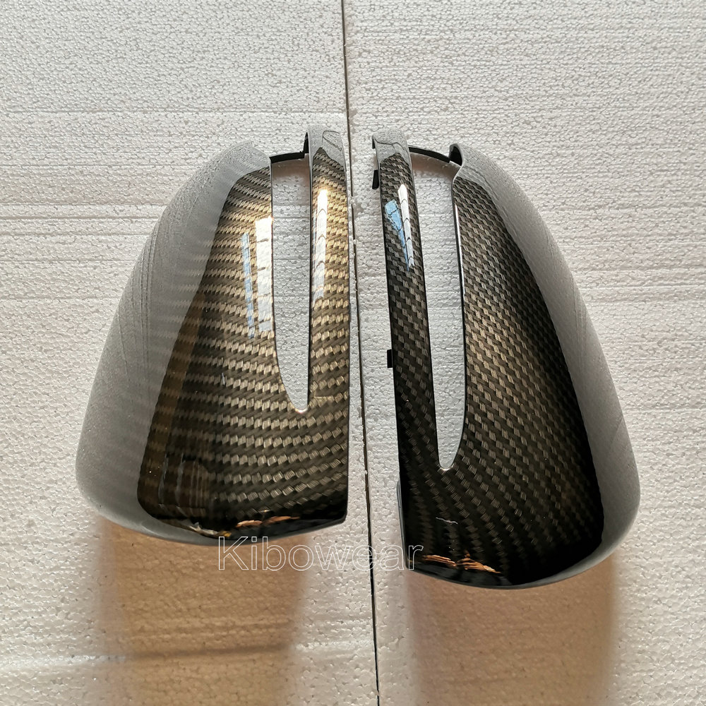 Side Mirror Cover Caps For Mercedes Benz W205 W222 W213 W238 X205 X253 C217 C253 W253 C S GLC E G Class AMG replace carbon look