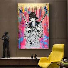 Абстрактное уличное искусство убийца с пистолетами акварельные