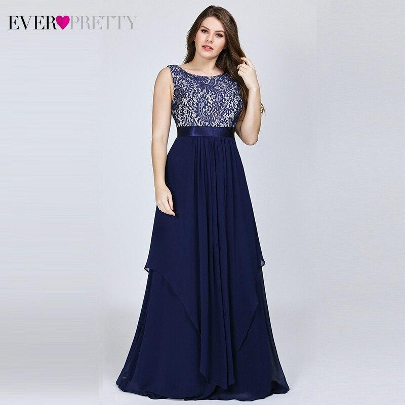 Plus Size   Bridesmaid     Dresses   Ever Pretty Floral Lace A-Line O-Neck Sleeveless Elegant Wedding Guest   Dresses   Vestido Madrinha