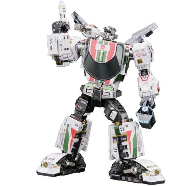 MMZ דגם MU 3D מתכת פאזל Wheeljack G1 חלקים להחלפה DIY להרכיב פאזל לייזר לחתוך פאזל בניין צעצוע YM L047 עבור מתנה