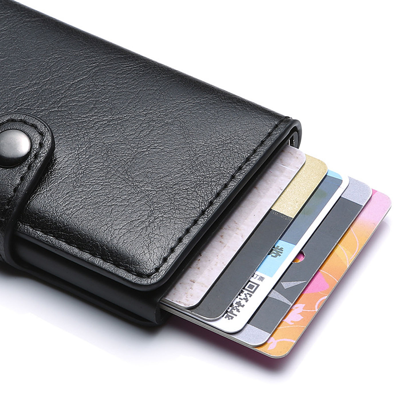 2019 Rfid Card Holder Men Wallets RFID Money Bag Male Vintage Black Short Purse Small Leather Slim Wallets Mini Wallets Thin