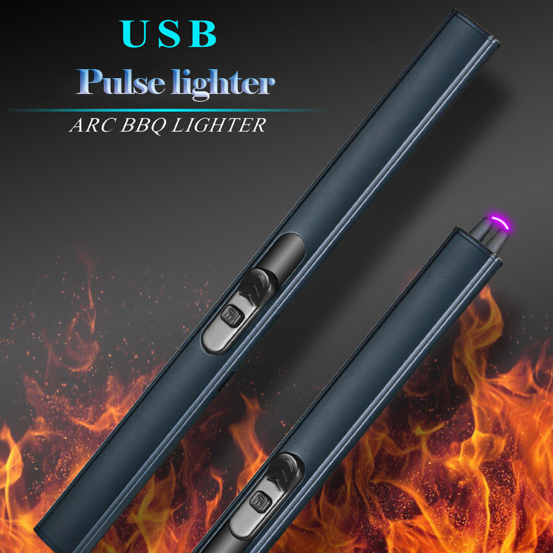 USb Charging Arc Lighter Plasma Cigarette Electric Pulse Lighters Fireworks for BBQ Kitchen Candle Lighters Pipe Smoking