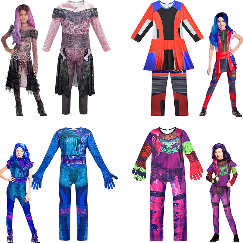 Baby Girls Costume Descendants 3 Evie Mal Audrey Jay Carlos Costumes Boys Halloween Party Cosplay For Kid 3d Children Jumpsuit Clothing Sets Aliexpress