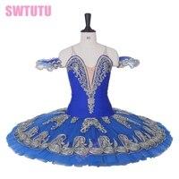 Royal blue Nutcracker Tutu Adult Blue Swan Lake Professional Ballet Tutus For Girls Performance Pancake Ballerina Dress BT9163