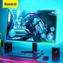 Baseus 5M LED bande lumineuse RGB 5050 Flexible LED jeu lumière ruban 12V bricolage Aura Sync éclairage pour PC ordinateur mi tour