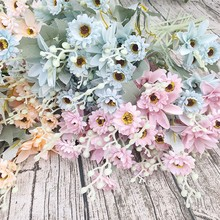 Get more info on the Fall Artificial Daisy Flower Wedding Home Decoration Plastic Fake Flowers Wedding Decor Nordic Fall Decor Artificial Flowers