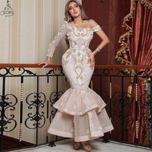 Saudi Arabia Fashion Mermaid Evening Dress Lace One Shoulder