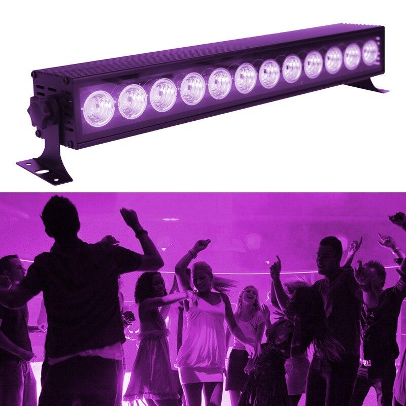 WUZSTAR 12 LED Disco UV Violet Black Lights DJ 36W Par Lamp UV For Party Christmas Laser Stage Wall Washer Spot Light Backlight