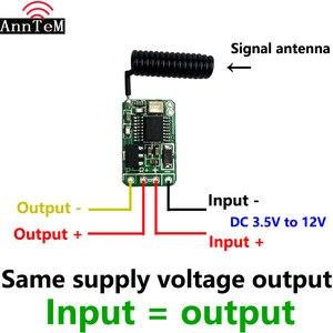 Image 3 - 433mhz RF DC 3.7V 4.5V 6v 12V Battery Power Mini Wireless Remote Control Switch LED Lamp Controller Micro Receiver Transmitter
