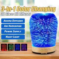 3D Star Lighting Essential Oil Aroma Diffuser Portable Ultra quiet Ultrasonic Aromatherapy Humidifier with 6 Color LED Lights w Nawilżacze powietrza od AGD na
