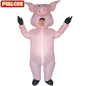 Image 1 - Rosa porco inflável trajes de porco para adultos animal halloween carnaval cosplay festa fantasia vestido feminino masculino aniversário roupas rosa