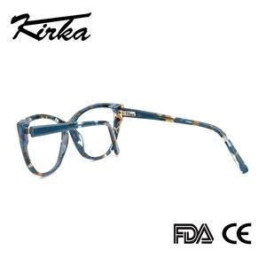 Image 4 - Kirka Cat Eye Frame Eyeglass Women Frame Acetate Clear Fashion Glasses Frame Optical Women Reading Glasses Eyeglasses Myopia