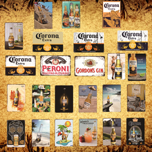[Luckyaboy] Corona Extra Beer Poster Metal Tin Signs Retro Wall Stickers Bar Pub Cafe Vintage Home decor Iron Painting AL003