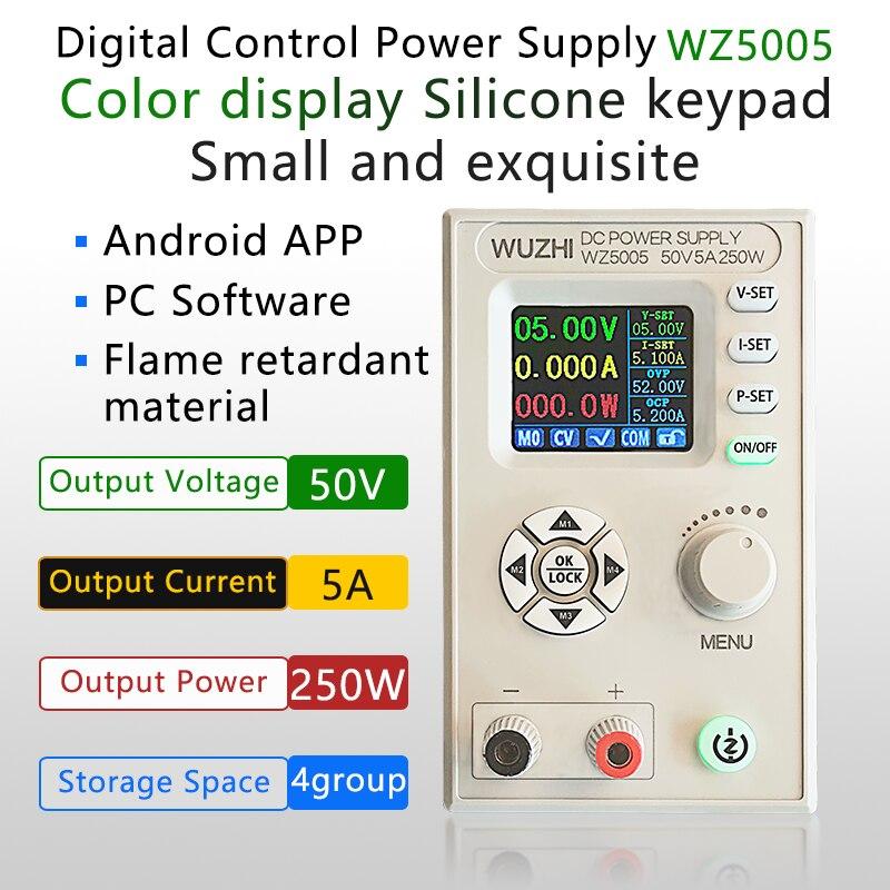 Convertisseur cc cc buck cc cv 50v 5a module dalimentation régulé réglable communication dalimentation de laboratoire variable wz5005