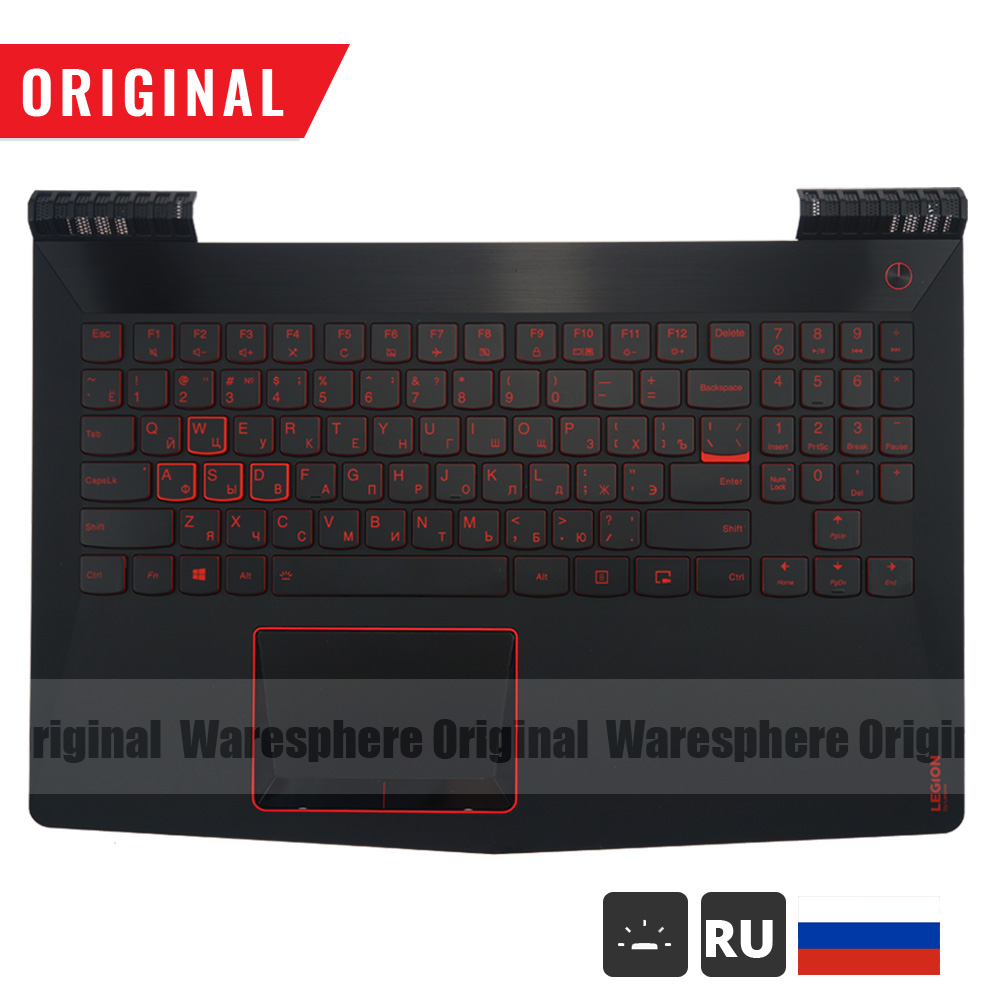 95% New Original Palmrest with RU Russia Backlit Keyboard for <font><b>Lenovo</b></font> Legion <font><b>Y520</b></font> R720 <font><b>Y520</b></font>-15 <font><b>Y520</b></font>-15IKB Top Cover Upper <font><b>Case</b></font> image