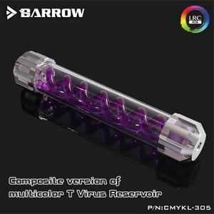 Image 2 - Barrow DNA спиральный резервуар с алюминиевой крышкой + акриловый корпус резервуар для водяного охлаждения 160/210/260/310 мм LRC 2,0 5 в RGB CMYKL