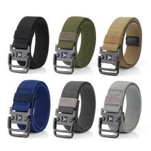 Hunting Waist Belt Outdoor Strategical Double Ring Buckle Nylon Elastic Stretch Strong Camp Lumbar Battle Molle Belts