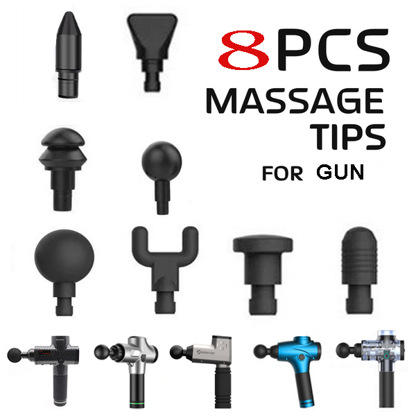 4/8 Pcs Percussion Massage Heads Tip Massager Extended Head Attachment Massage Adapter Massage Gun