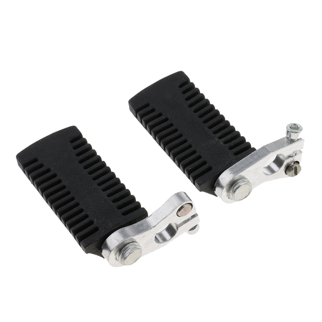 1 Pair Motorcycle Foot Rests Pedals Footpegs For 47cc 49cc Mini Pocket Bike