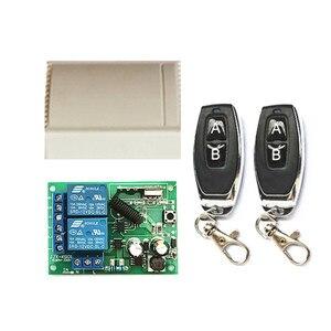 Image 3 - ไร้สาย 433MHz 2 ช่องAC 110V 220Vรีเลย์ตัวรับสัญญาณและ 1527 รหัสการเรียนรู้เครื่องส่งสัญญาณRFรีโมทคอนโทรลสำหรับโรงรถDO