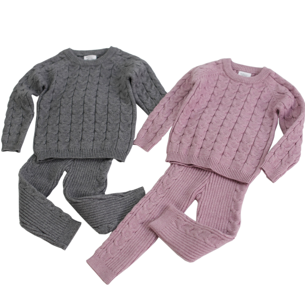 Baby Clothing Set Knitting Pullover Baby Girls Clothes Toddler Boys Clothes Sweater and Pants Baby Set Kids Boutique Clothes
