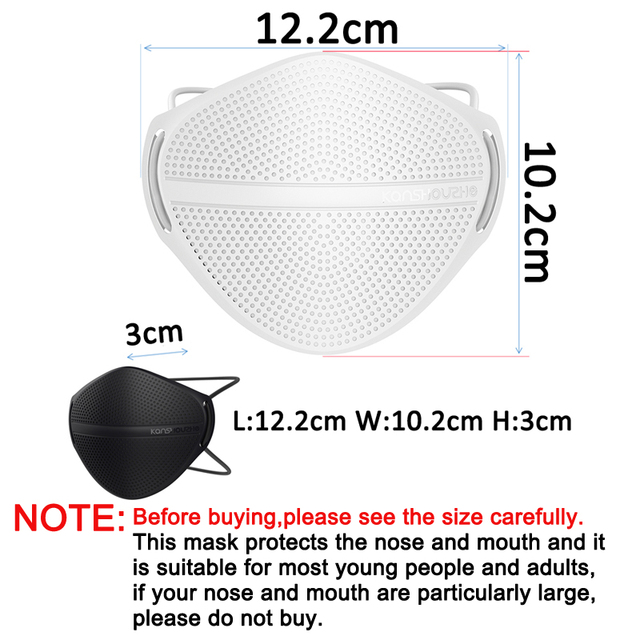 KanShouZhe Reusable Face Masks Protective Mask with 10 filters PM2.5 Safety Mask Mouth Nose Disconnect-type for Dust Mouth Cap 3