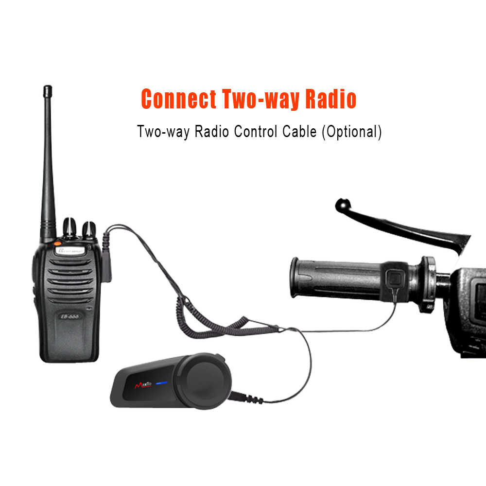 Waterproof,with Voice dial Maxto M2 Helmet Communication Systems for 6-Riders Pairing Range-1000meters with FM Radio Motorcycle Bluetooth Headset Intercom M2 Soft+Hrad Mic