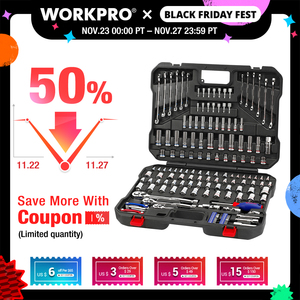 Image 1 - WORKPRO 164PC Tool Set Socket Wrench Set Hand Tools for Car Repair Set of Tool Instruments Sockets Set Ratchet Wrenches Spanners