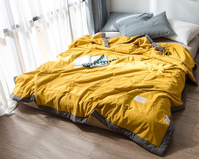 1 pçs colcha de algodão de lavagem macia, também bom uso como cobertor de primavera verão fresco 145x195/175x215/195*225cm