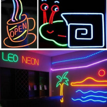 Licht Strip Led Waterdicht Gazon Led Bar Flexibele Thuis Neon Light Strip Outdoor Reclame Regenboog Buis Hotel Party Teken Decor(China)