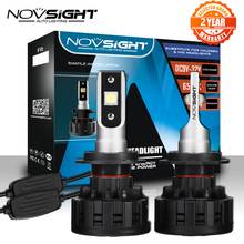 NOVSIGHT H4 H7 H11 H1 H3 9005 9006 светодиодный автомобильный головной светильник, лампы Hi Lo Beam 60 Вт 18000LM 6500 К, Авто фара, противотуманный светильник, лампа DC12v 24
