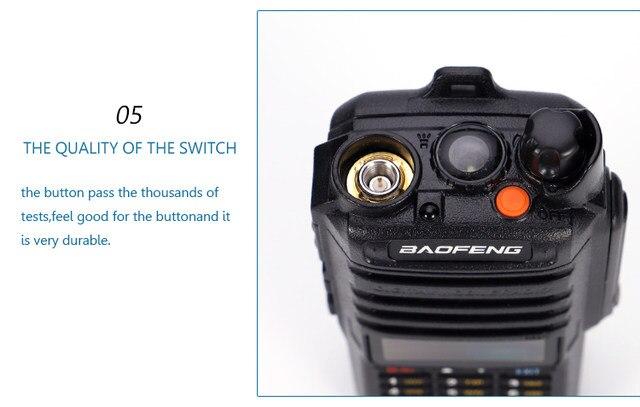 2pcs 8000mah 10W Baofeng UV-9R plus waterproof walkie talkie for CB ham radio station 10 km two way radio uhf vhf mobile plus 9r (25)