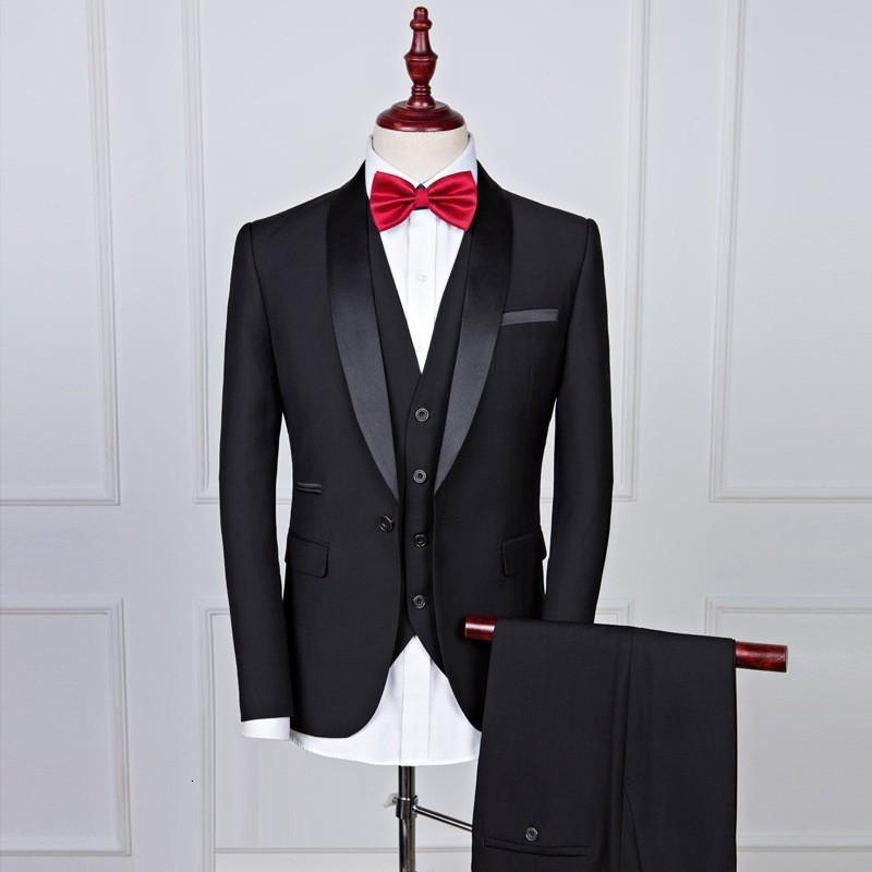 New Mens Wedding Suits Groom 2020 Slim Fit Male Suit Formal Black Luxury Man Suit Latest Coat Pant Designs Costume Homme Mariage