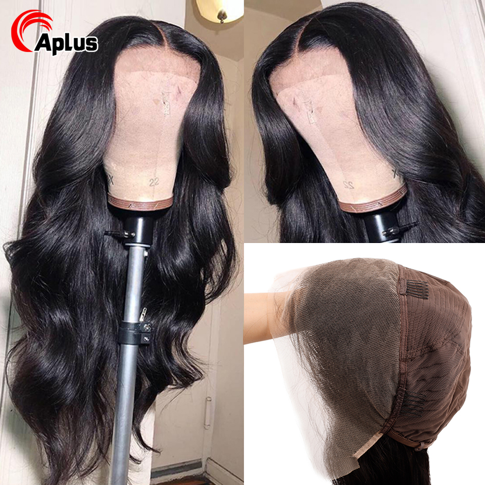 13x4 Transparent Lace Frontal Wigs Brazilian Body Wave Wig For Black Women Remy Glueless Pre Pluck HD Lace Front Human Hair Wigs