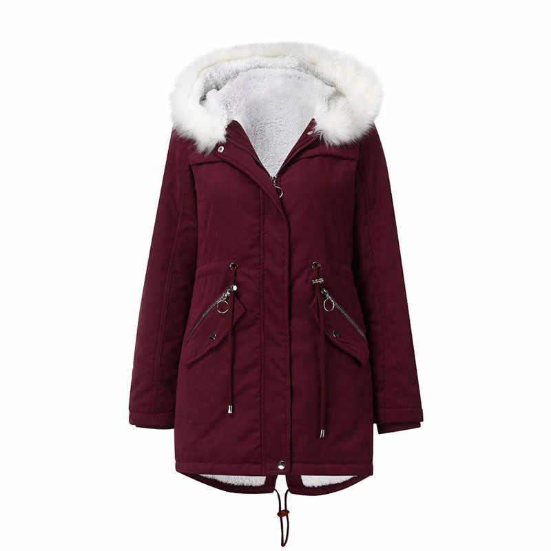 Maroon Parka Coat Womens