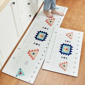 Image 4 - אנטי להחליק מטבח ארוך מחצלת אמבטיה שטיח מודרני קריקטורה מסדרון כניסת שפשפת Tapete שמן הוכחה שינה סלון רצפת מחצלות
