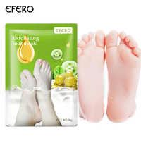 EFERO 3 pares = 6 piezas de mascarilla para pies exfoliante Pedicura Spa calcetines para pelar pies cuidado de los talones eliminar la humedad de la piel muerta