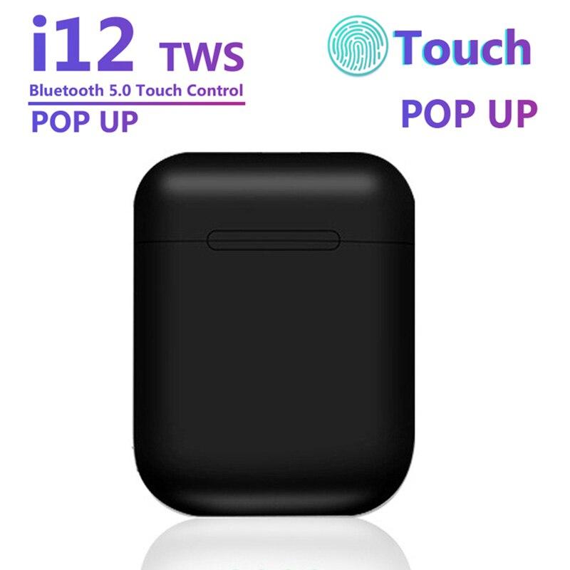 Inpods 12 I12 TWS Original Black Wireless Earphone Headphones Bluetooth 5.0 Sport Earphones Earbuds For Iphone Xiaomi Samsung