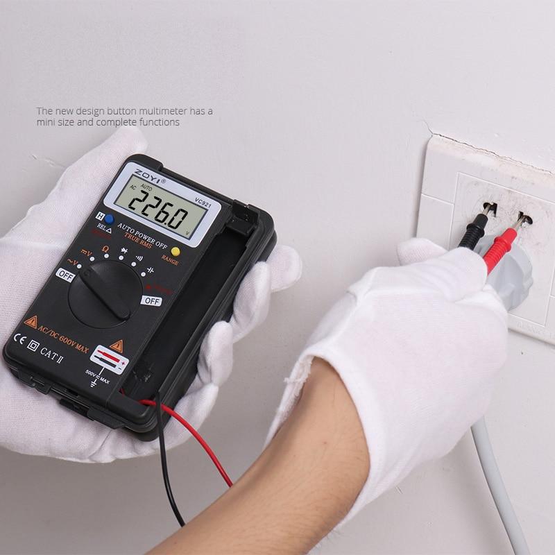 Image 5 - Digital Multimeter ZOYI VC921 3 3/4 Personal Mini Digital Multimeter Handheld Pocket capacitance resistance frequency tester-in Multimeters from Tools