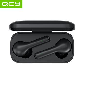 QCY T5 słuchawki Bluetooth V5 0 słuchawki bezprzewodowe sterowanie dotykowe Stereo HD rozmowa z 380mAh etui z funkcją ładowania baterii tanie i dobre opinie Technologia hybrydowa wireless Zaczep na ucho 108±3dBdB 0Nonem Do Gier Wideo Wspólna Słuchawkowe Dla Telefonu komórkowego